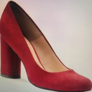 Isola Red Suede Pumps